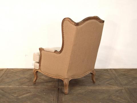GJ Styles - Wing Chair in Linen - AH74