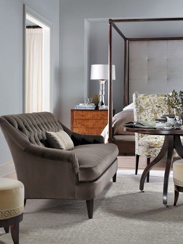 Hickory Chair - Auburn Small Round Stool - 1513-29