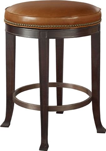 Hickory Chair - Newbury Swivel Curved Back Barstool - 138-14
