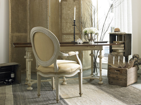 Hickory White - Oval Back Arm Chair - 861-61