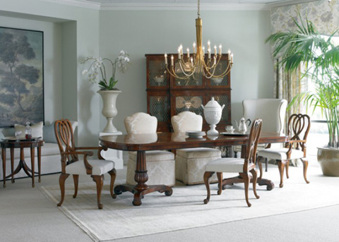 Hickory White - Double Pedestal Dining Table - 890-13