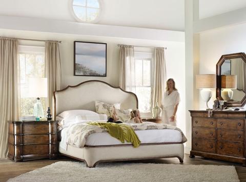 Hooker Furniture - Archivist King Upholstered Platform Shelter Bed - 5447-90866
