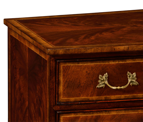 Jonathan Charles - Mahogany Bow Front Chest of Drawers - 492663