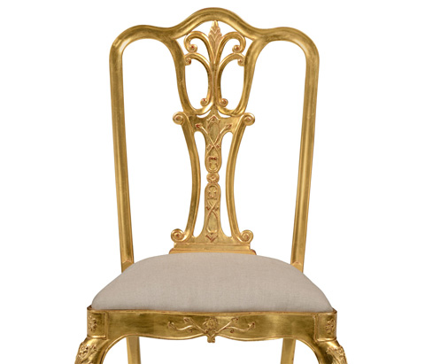 Jonathan Charles - Gilded 18th Century Style Dining Side Chair - 493038