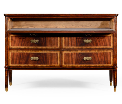 Jonathan Charles - Mahogany Storage Sideboard For Table Leaves - 493079