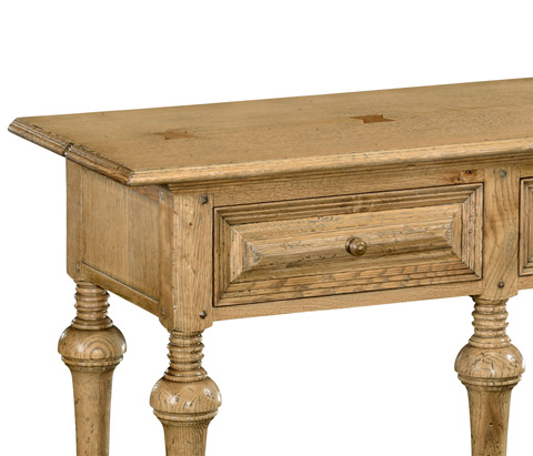 Jonathan Charles - Natural Oak Elizabethan Style Console - 493549-L