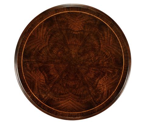 Jonathan Charles - Dark Walnut Round Lamp Table - 493721