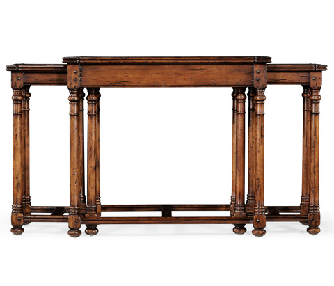 Jonathan Charles - Oyster Parquet Nest of Tables - 493897