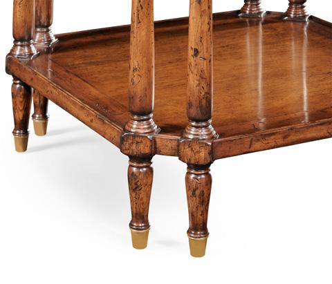 Jonathan Charles - Walnut Square Side Table - 494025