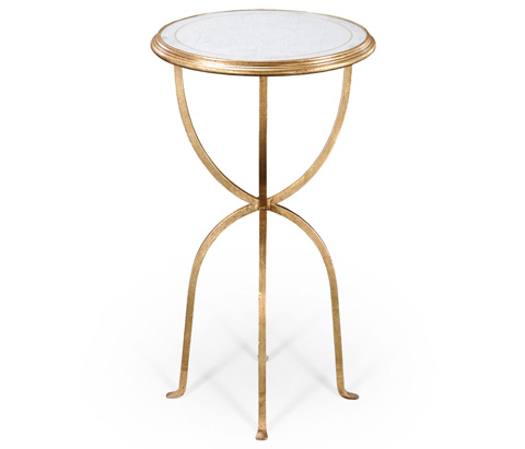 Jonathan Charles - Eglomise and Gilded Iron Lamp Table - 494189-G