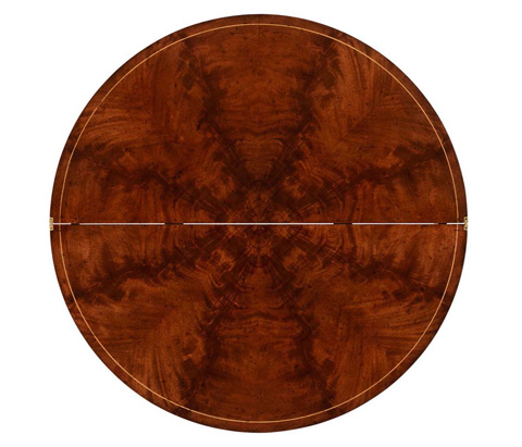Jonathan Charles - Mahogany Flip-Top Demilune Breakfast Table - 494550