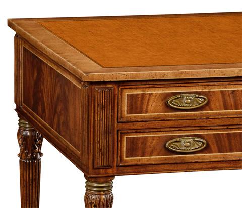 Jonathan Charles - Sheraton Style Walnut Bureau Plat - 495018-CWM