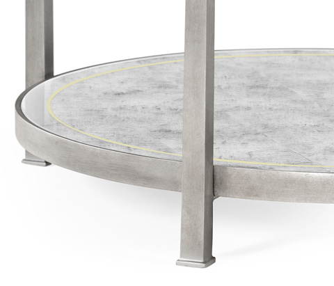 Jonathan Charles - Patinated Silver Finish Three Tier Table - 494920-S