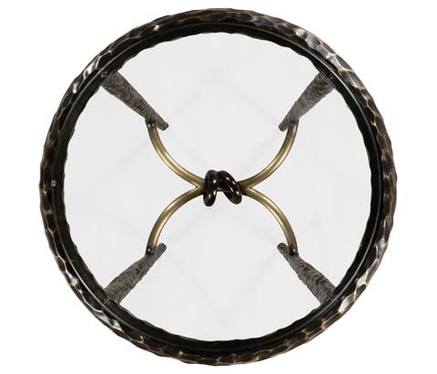 Jonathan Charles - Hammered Iron Circular Wine Table - 495025-BRO