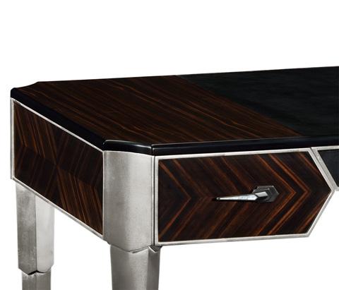 Jonathan Charles - Art Decor Silver Desk - 495379-SIL
