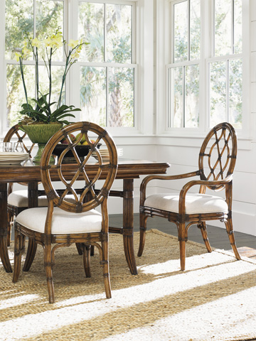 Tommy Bahama - Cedar Key Oval Back Side Chair - 593-886-01