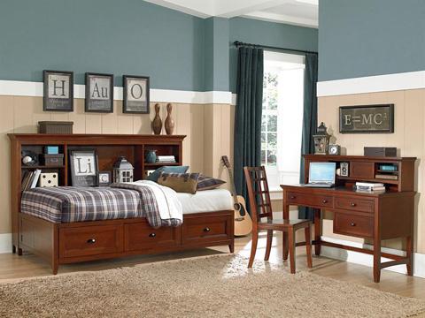 Magnussen Home - Riley Cherry Lattice Back Wooden Desk Chair - Y1873-85