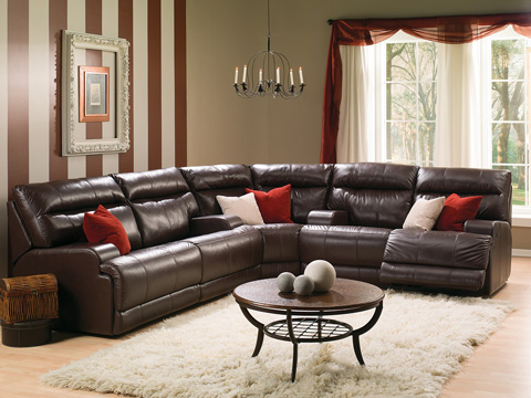 Palliser Furniture - Lincoln Reclining Loveseat with Console - 41027-58