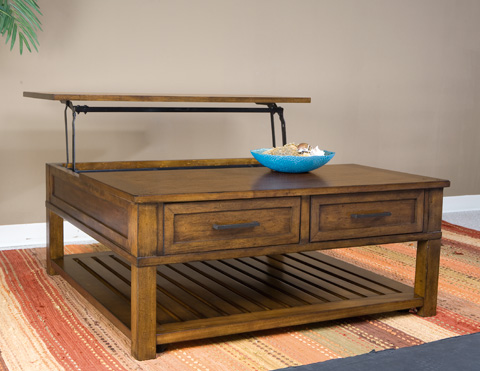 Palmetto Home - Eco Jack Square Lift Cocktail Table - 101-801
