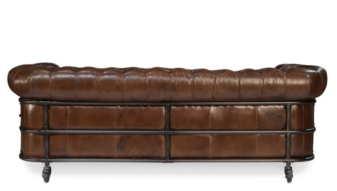 Sarreid Ltd. - Tribeca Vintage Cigar Leather Sofa - 29749