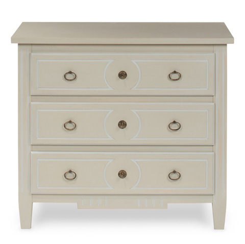 Sarreid Ltd. - Gilbert Three Drawer Chest - 30488