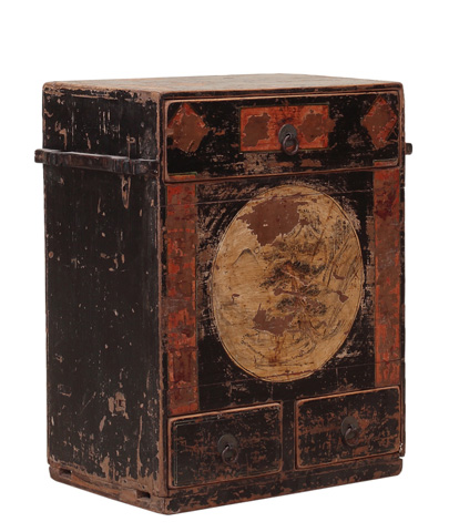 Sarreid Ltd. - Small Painted Cabinet - SA-5722