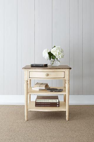 Stanley - Portfolio - Lamp Table in Vintage White - 007-25-10