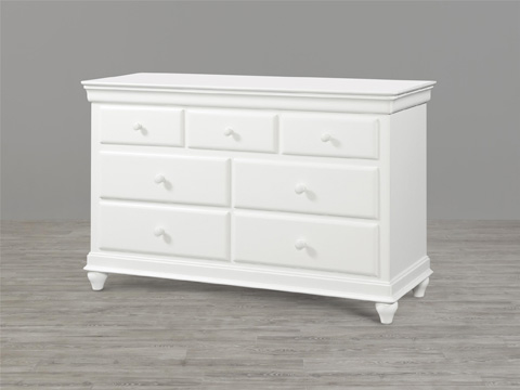 Universal - Smart Stuff - Classics 4.0 White Drawer Dresser with Mirror - 131A002/131A032