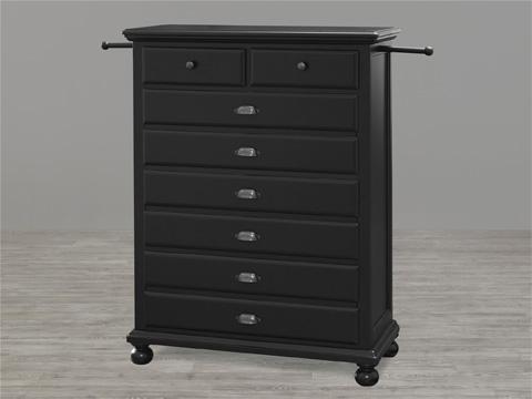 Universal - Smart Stuff - Black and White 5 Drawer Chest - 437B012