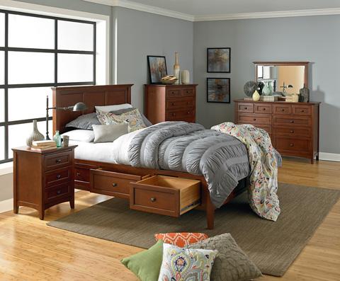 Whittier Wood Furniture - Six Drawer McKenzie Chest - 1180GAC