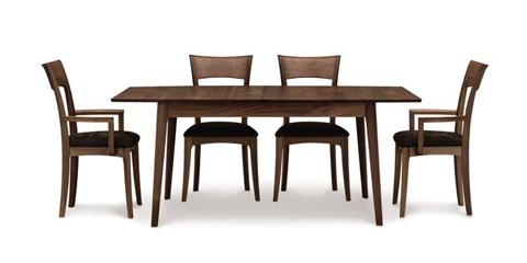 Copeland Furniture - Catalina Four Leg Extension Table - Walnut - 6-CAL-20-04