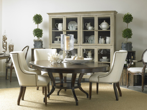 Hickory White - Round Dining Table - 860-10