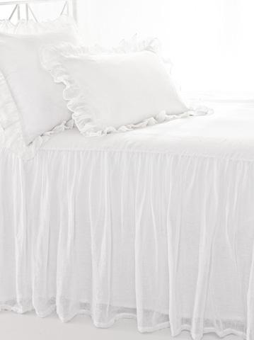 Pine Cone Hill, Inc. - Savannah Linen Gauze White Bedspread - King - SAWBCK
