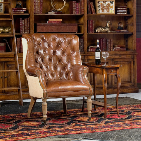Sarreid Ltd. - Welsh Leather Chair - 29732