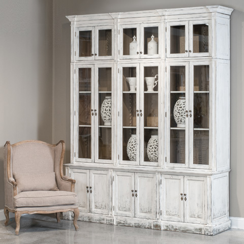 Sarreid Ltd. - The Country Glassfront Cabinet - 29984