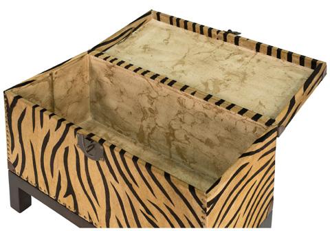 Sarreid Ltd. - Zebra Box On Stand - 30448