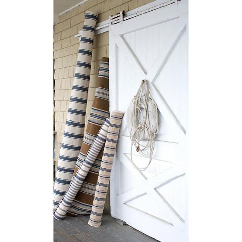 Dash & Albert Rug Company - Blue Awning Stripe Cotton Woven 8x10 Rug - RP37-810