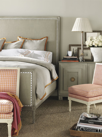 Hickory Chair - Candler King Upholstered Headboard - 1559-10