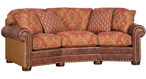 King Hickory - Ricardo Leather and Fabric Conversation Sofa - 9965-LF