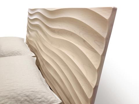 Copeland Furniture - Wave Bed - 1-WAV-01