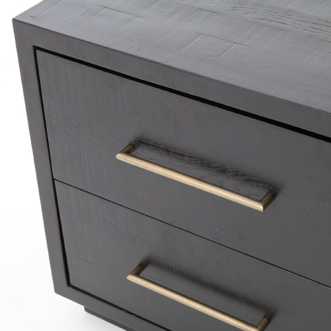 Four Hands - Suki Two Drawer Nightstand in Burnished Black - VHAD-F186