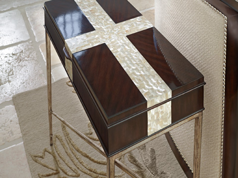 Marge Carson - Tao Metal Chairside Table - TAO30-2