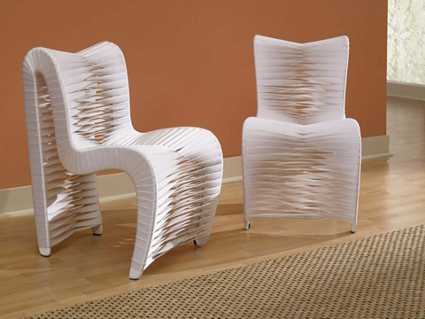Phillips Collection - Seat Belt Dining Chair in White - B2061WZ