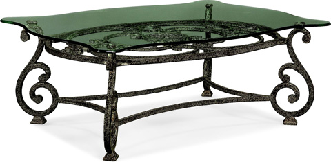 Thomasville Furniture - Rectangular Glass Top Cocktail Table - 41531-131