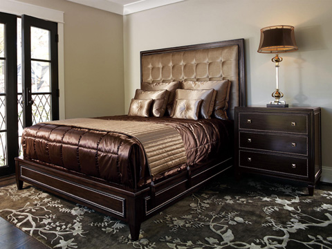 Marge Carson - Contemporary Upholstered Panel Bed - DSF11-1