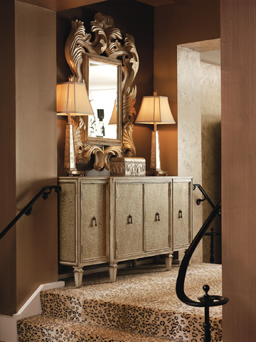 Marge Carson - Accent Credenza with Media Storage - DSF10-3