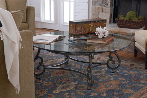 Thomasville Furniture - Round Glass Top Cocktail Table - 41531-171