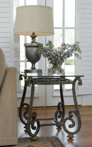 Thomasville Furniture - Glass Top End Table - 41531-211