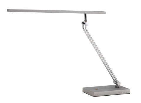 Adesso Inc., - Adesso Saber One Light LED Desk Lamp in Steel - 3392-22