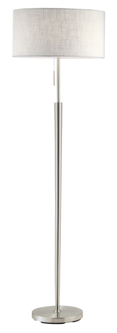 Adesso Inc., - Adesso Hayworth Floor Lamp in Satin Steel - 3457-22